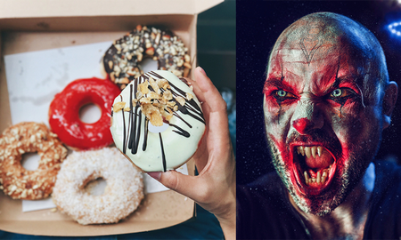 Music News - Creepy Clowns Are Delivering Donuts To People This Month