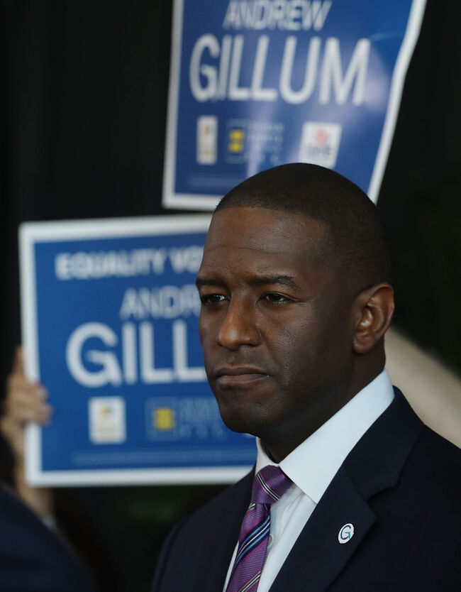 MIAMI, FL - SEPTEMBER 24: Democratic Florida gubernatorial nominee Andrew Gillum attends a campaign rally where he received the endorsement of three major national, state and South Florida LGBT groups on September 24, 2018 in Miami, Florida. Gillum sought to portray himself as a champion of LGBT rights while casting his Republican foe Ron DeSantis as hostile to those rights. (Photo by Joe Raedle/Getty Images)