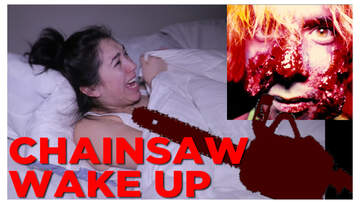 In-Studio Videos - Suzette Wakes Up Her Best Friend w/ a Chainsaw!!