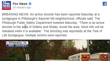 NewsRadio WKCY - News NOW  - Pittsburgh Police Confirm Active Shooter At Synagogue - Fatalities