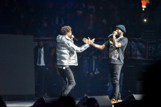 Meek Mill and PNB Rock at Powerhouse 2018