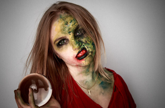 """Maybe it's not """"green goo"""", but take flour, mix with water & ketchup, make a paste, and stick it on our face!"""