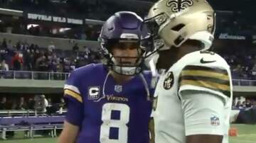 Adam West - Camera Catches GREAT Cousins/Bridgewater Moment After SNF
