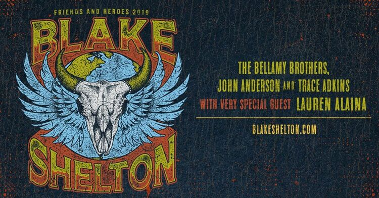 Blake Shelton is coming to Tampa, this March