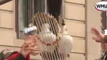 Bill Ellis - Do Damage! World Series Trophy Takes A Beer Can