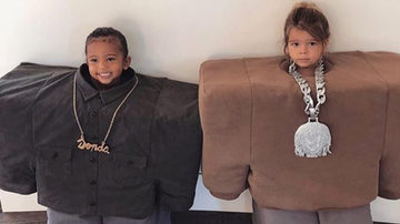 Trending - Saint West And Reign Disick Dressed Up As Kanye West For Halloween