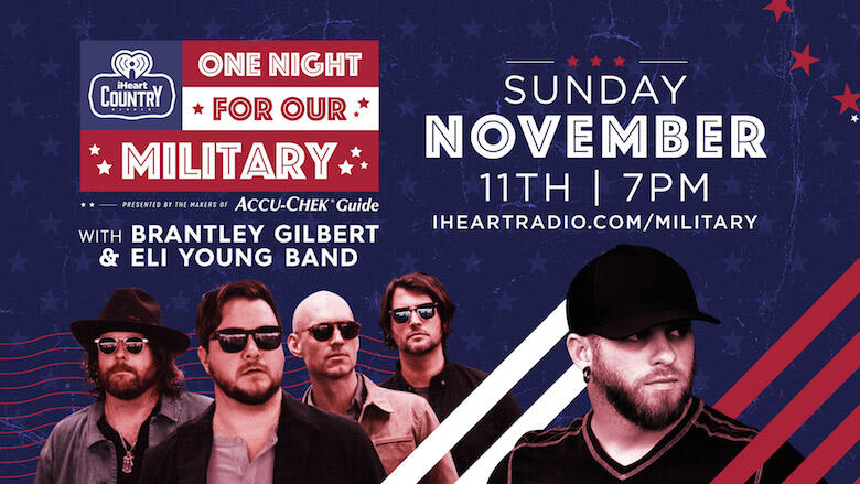 Brantley Gilbert & Eli Young Band to Perform During Veterans Day Concert