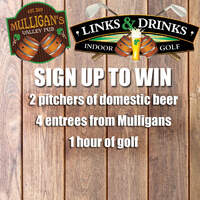Beer, Pizza, and Golf!! Sign Up To Win