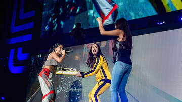 Trending - Steve Aoki & Becky G Caked A Fan in The Face at iHeartRadio Fiesta Latina