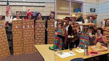 Promise - The Bizness Hourz - Sit Yourself Down Sunday teachers dress as border wall, and Mexicans
