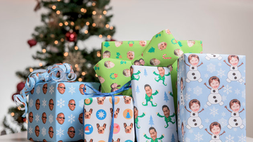 Trendy Topics - You Can Now Order Wrapping Paper With Your Face On It