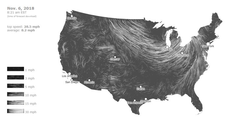 Click map for live WIND MAP