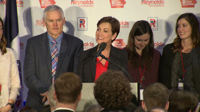 Republican Kim Reynolds elected to full term as Iowa Governor