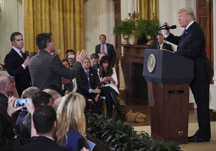 CNN reporter's press pass suspended by the White house