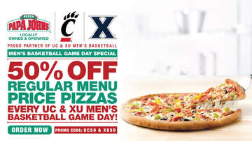 Mo Egger - UC And Xavier Fans, Take Advantage Of This Deal From Papa John's.