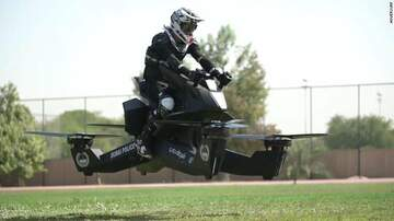 The Gunner Page - Dubai Police Training on Hovering Motorbikes