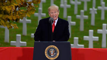 Politics - President Trump Honors Fallen Soldiers During Armistice Day Speech