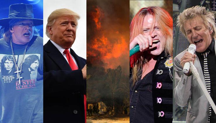 Rockers Light Up Trump Over Wildfire Response
