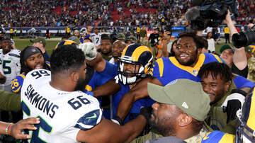 Dave 'Softy' Mahler - Rams Aaron Donald and Seahawks Justin Britt get into it after game