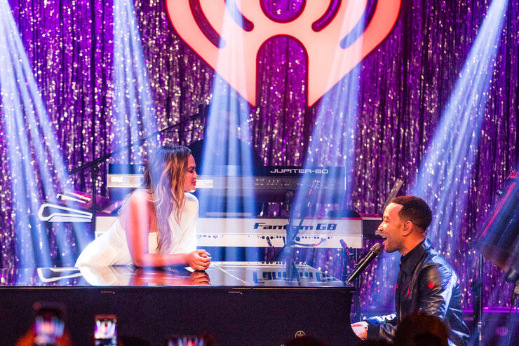 John Legend Performs Christmas Album, Chrissy Teigen Crashes
