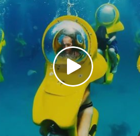 Lori - Would You Ride This Under Water Scooter?