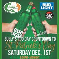 WIN A VIP TABLE FOR SIX  a SULLY'S 100 Day Countdown to St. Patricks Day