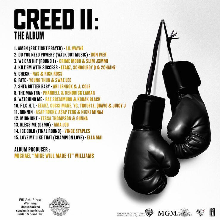 Creed II: The Album Artwork