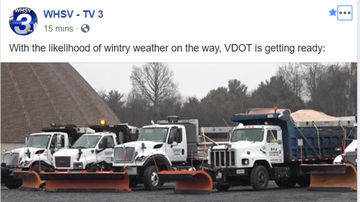 Steve - VDOT gearing up for winter weather