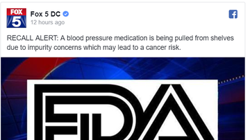 Steve - Another Blood Pressure Medicine Recall