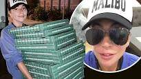 Dino - Lady Gaga Delivers Pizza To Wildfire Evacuees