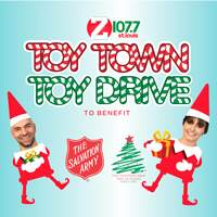 Jordan and Kristie are collecting 10,700 toys to fill the Salvation Army's Toy Town!