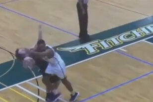 College Basketball Player Suspended After Vicious Elbow To Opposing Player