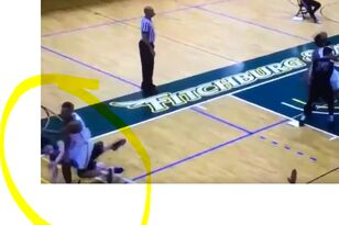VIDEO: Sucker Punch at Fitchburg State Basketball Game