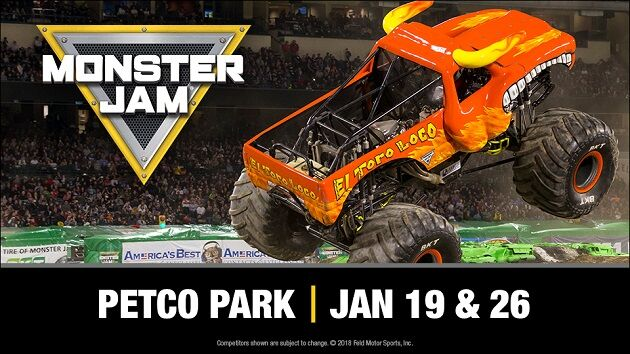 Monster Jam Petco Park San Diego January 19, 2019 January 26, 2019