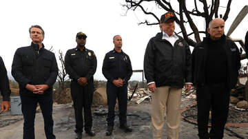 Local News - Trump Visits Malibu To See Woolsey Fire Area