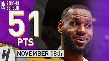 Chuck Dizzle - Lebron James First 50+ Points Game In A Lakers Uniform!