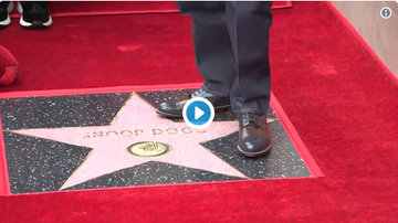 DJ MoonDawg - Congrats Snoop Dogg! Get's his Hollywood Star and Crips walks on it lol