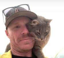 Lori - Fire Rescued Kitty Doesn't Want to Leave Fire Fighters Side