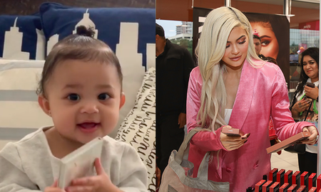 Entertainment News - Kylie Jenner Teaches Baby Stormi How To Say Kylie Cosmetics