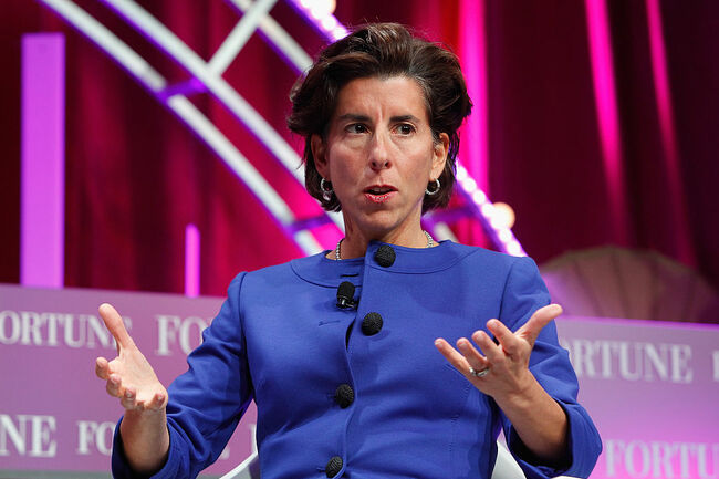 Governor of Rhode Island Gina Raimondo speaks onstage during Fortune's Most Powerful Women Summit - Day 2 at the Mandarin Oriental Hotel on October 13, 2015 in Washington, DC. (Photo by Paul Morigi/Getty Images for Fortune/Time Inc)