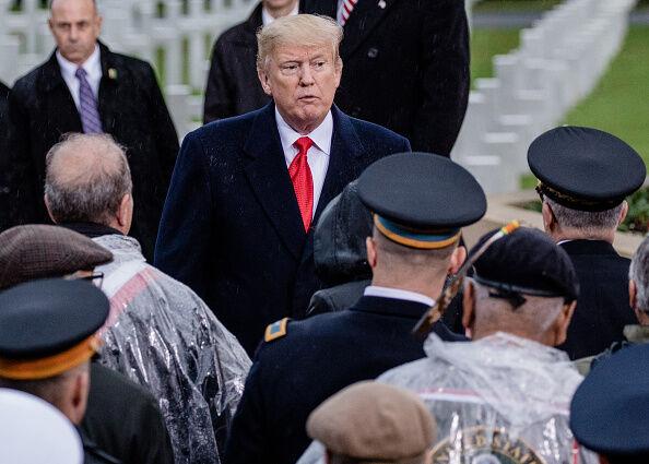 Presidente Trump habló el Lunes antes de ir a New Hampshire