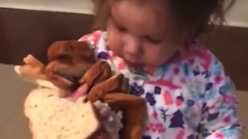Katie Price - This Little Girl LOVES Bread, And It's Adorable
