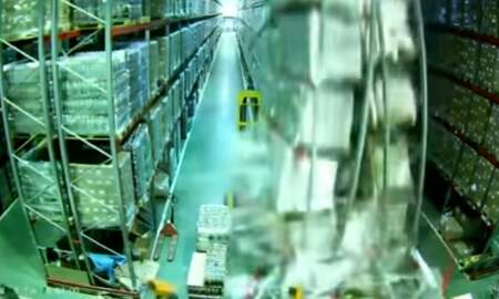 Weird News - Forklift Accident Brings Down Entire Warehouse