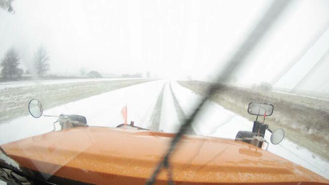 Iowa Department of Transportation Snow Plow Cam near Decatur City in far southern Iowa