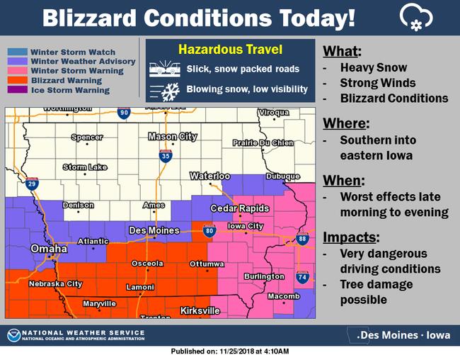 Snow-covered roads close down southern Iowa | WHO Radio News | 1040 WHO