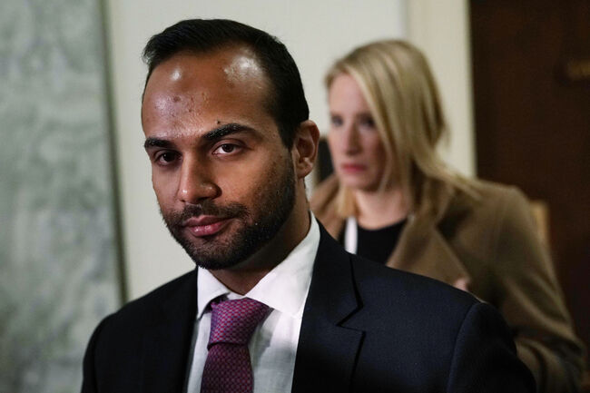 George Papadopoulos Testifies To Closed Meeting Of House Judiciary And Oversight Committee WASHINGTON, DC - OCTOBER 25: Former Trump campaign adviser George Papadopoulos arrives at a closed-door hearing before the House Judiciary and Oversight Committee October 25, 2018 at Rayburn House Office Building on Capitol in Washington, DC. Papadopoulos, who pledged guilty for lying to investigators in the special counsel Robert Mueller probe, made his first appearance before the congressional panel. (Photo by Alex Wong/Getty Images)