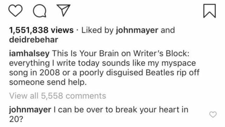 John Mayer Is Flirting With Halsey Again