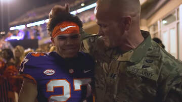 Sports Top Stories - Military Father Surprises His Son Prior To Clemson Football Game