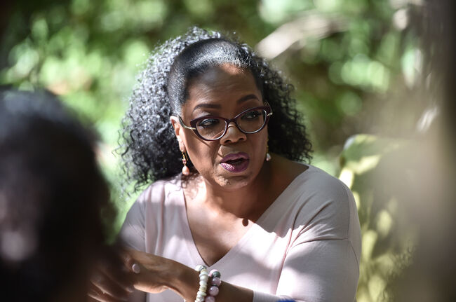 Oprah Winfrey's Gospel Brunch Celebrating Her New Book 'Wisdom Of Sundays' MONTECITO, CA - OCTOBER 15: Author Oprah Winfrey attends Oprah Winfrey's Gospel Brunch celebrating her new book 'Wisdom of Sundays' on October 15, 2017 in Montecito, California. (Photo by Alberto E. Rodriguez/Getty Images)