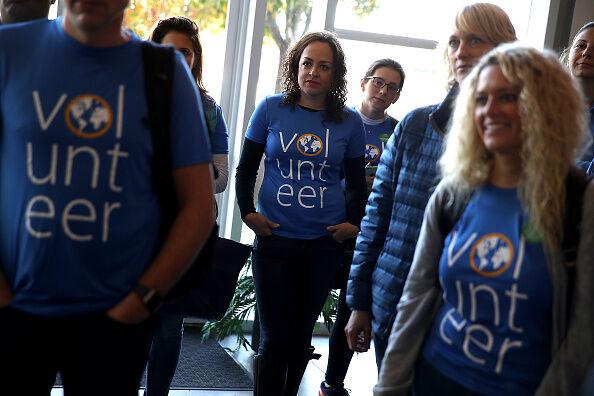 Volunteers in California  Getty Images